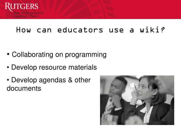 How can educators use a wiki?