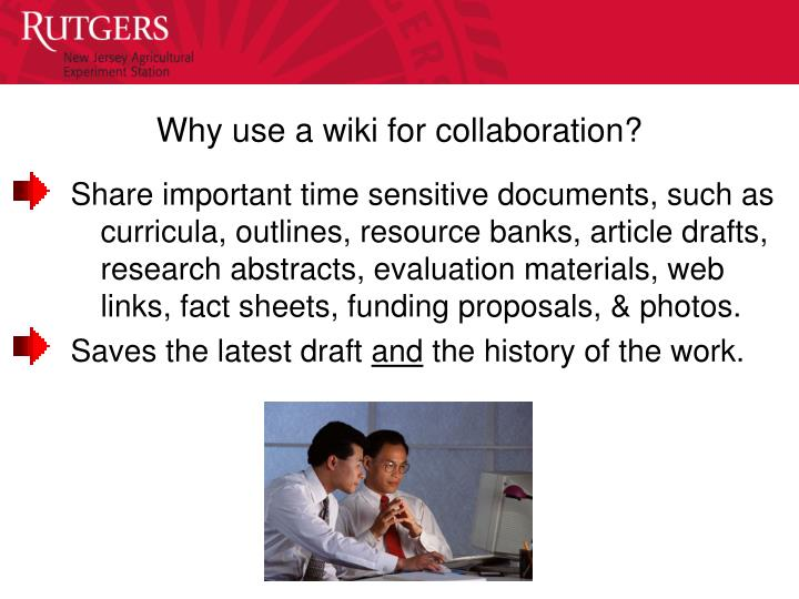 Why use a wiki for collaboration?