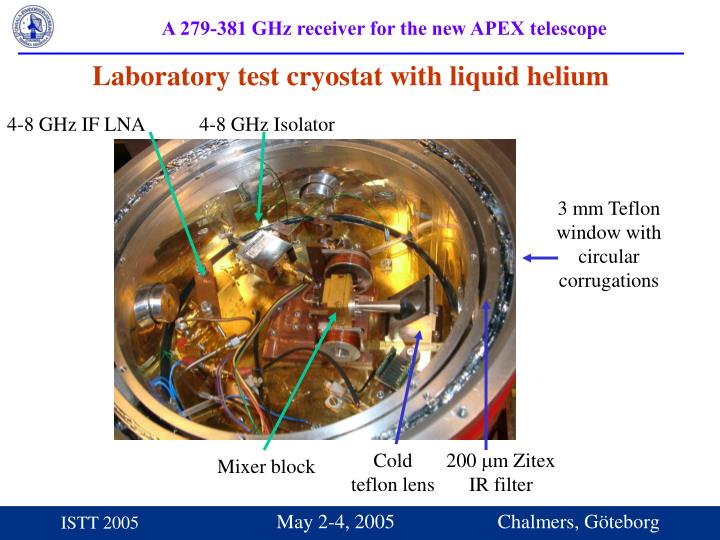 Laboratory test cryostat with liquid helium