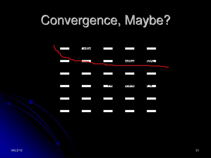 Convergence, Maybe?