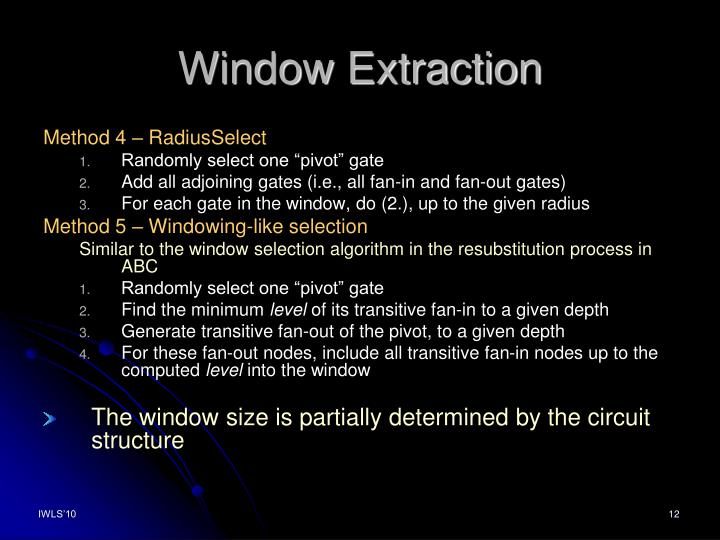 Window Extraction