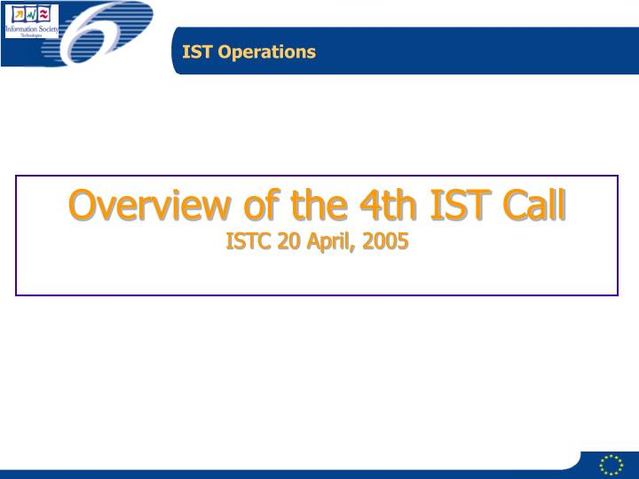 IST Operations