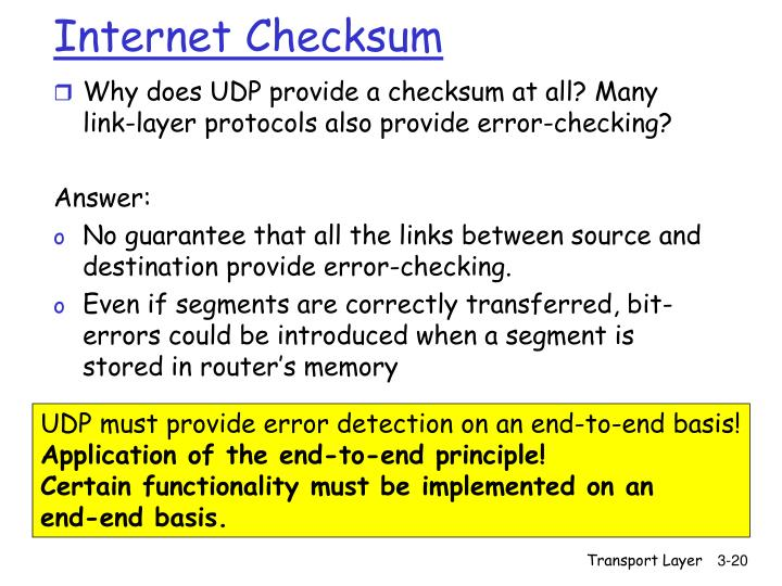 Internet Checksum