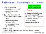 refinement inferring loss tcp reno