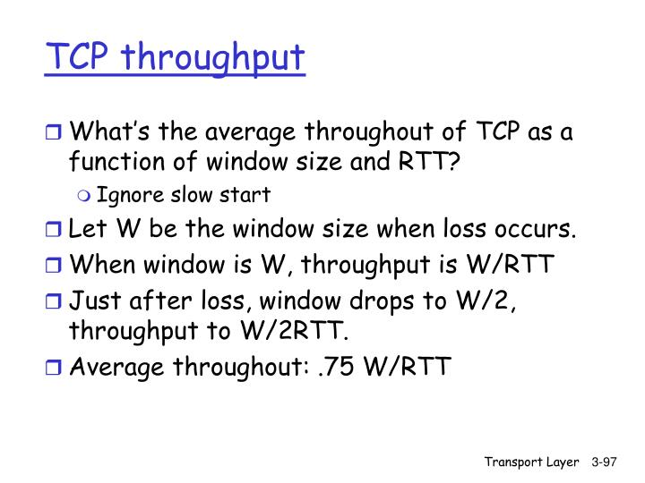 TCP throughput