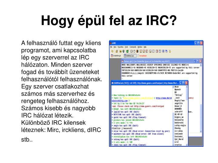 Hogy épül fel az IRC?