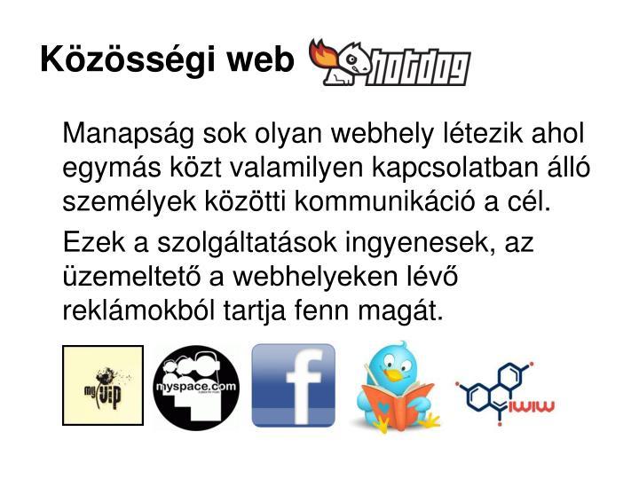 Közösségi web