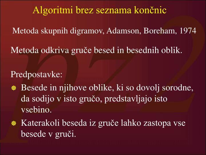 Algoritmi brez seznama končnic