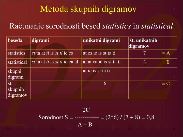 Metoda skupnih digramov