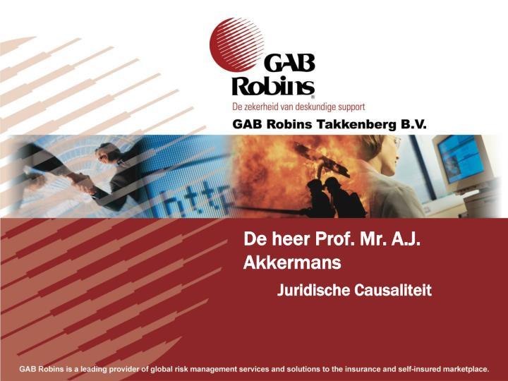 De heer Prof. Mr. A.J. Akkermans