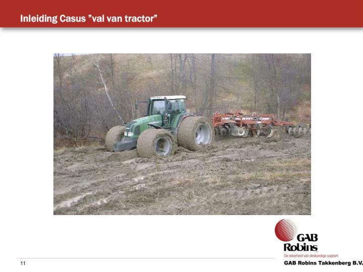 """Inleiding Casus """"val van tractor"""""""