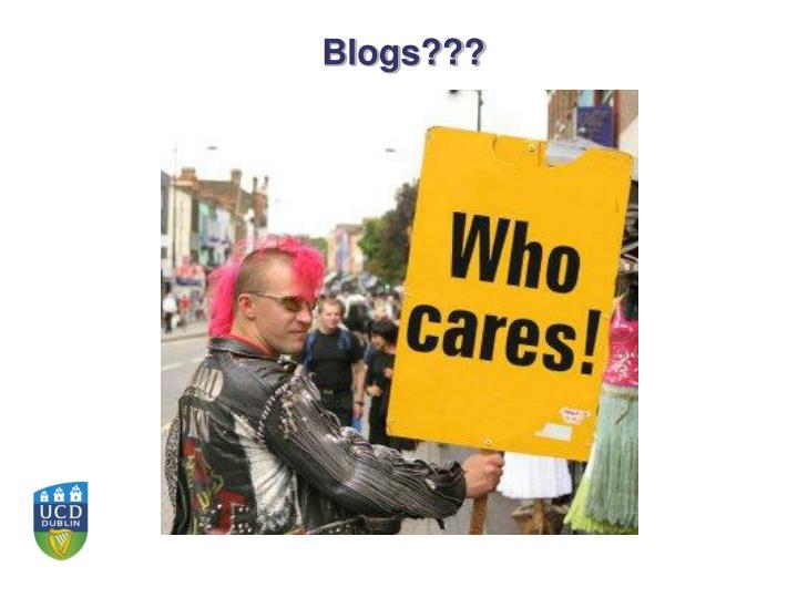 Blogs???