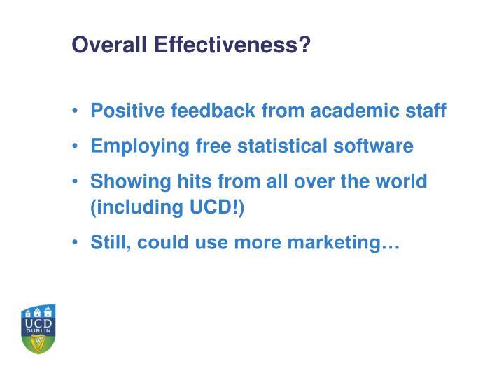 Overall Effectiveness?