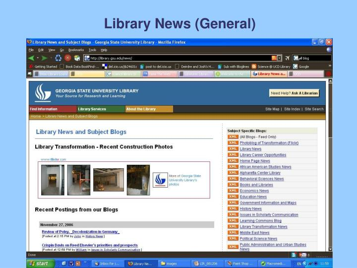 Library News (General)