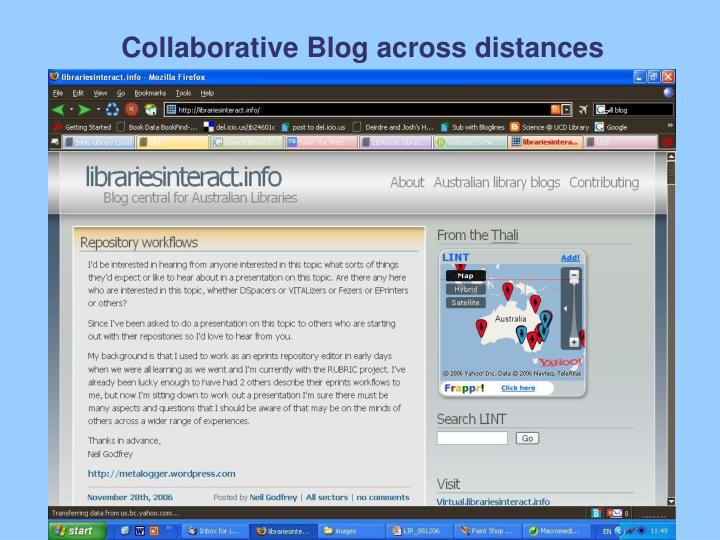 Collaborative Blog across distances