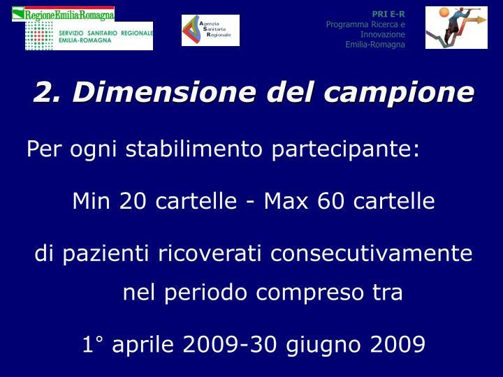 2. Dimensione del campione