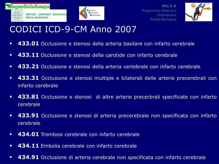 CODICI ICD-9-CM Anno 2007