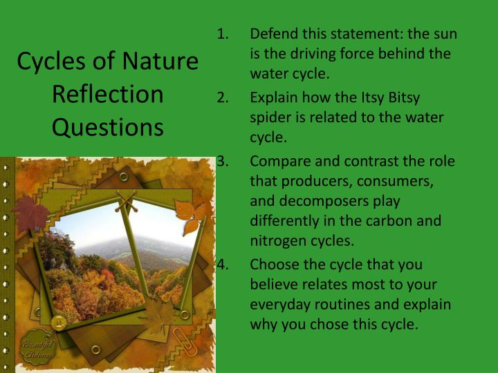 Cycles of Nature Reflection Questions