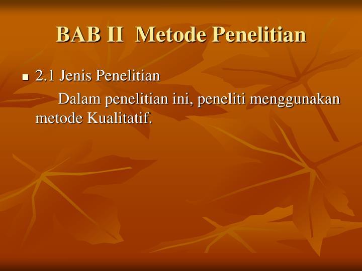 BAB II  Metode Penelitian
