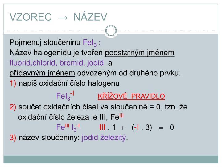 VZOREC  →  NÁZEV