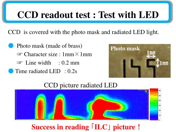 CCD readout test : Test with LED