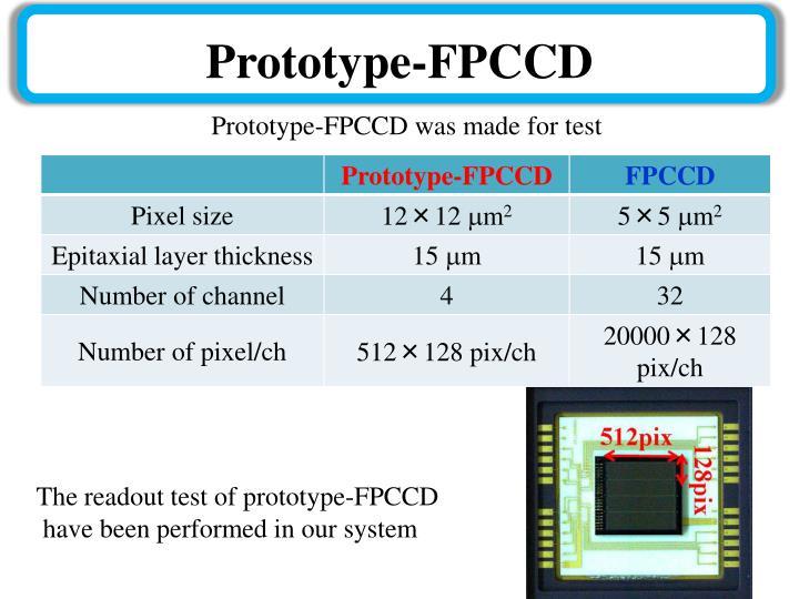 Prototype-FPCCD