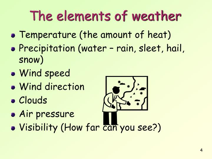 The elements of weather