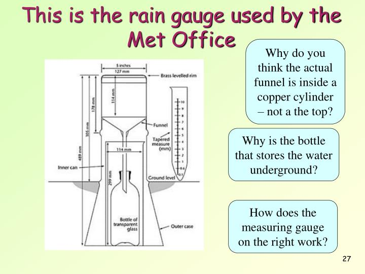 This is the rain gauge used by the Met Office