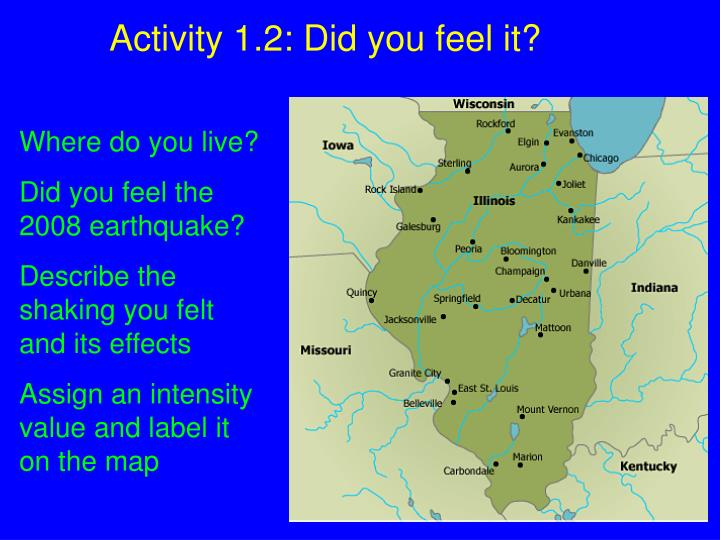 Activity 1.2: Did you feel it?