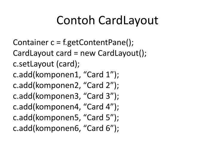 Contoh CardLayout