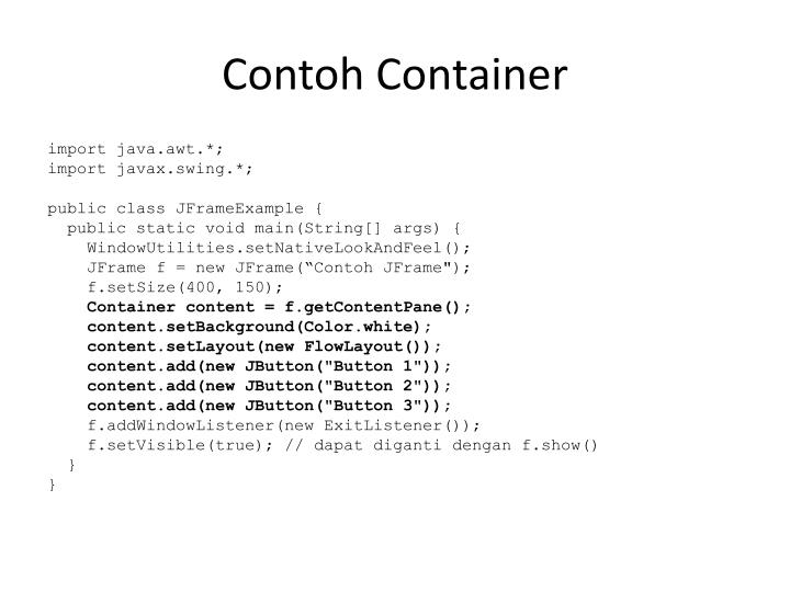 Contoh Container