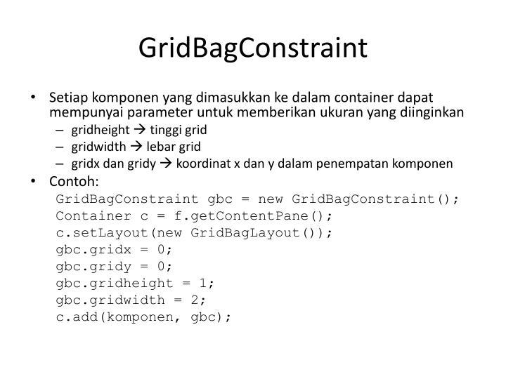 GridBagConstraint