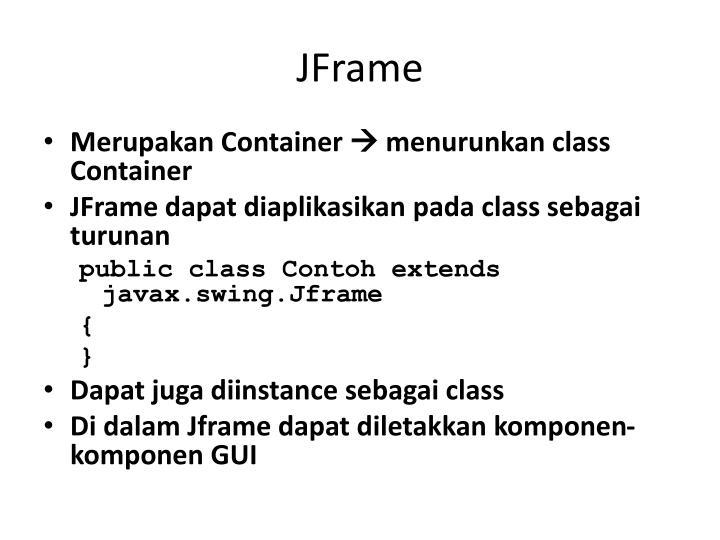 JFrame