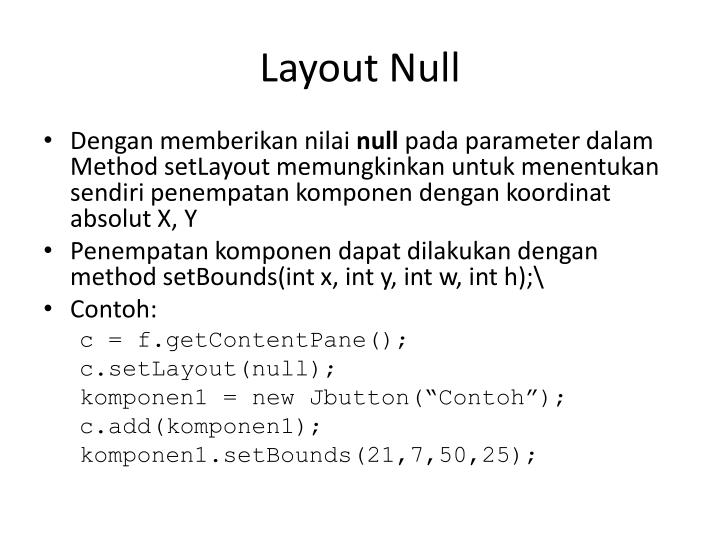 Layout Null