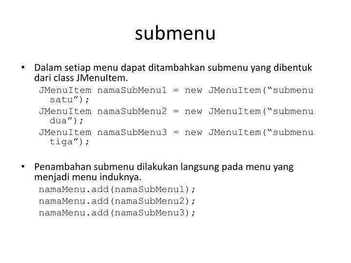 submenu