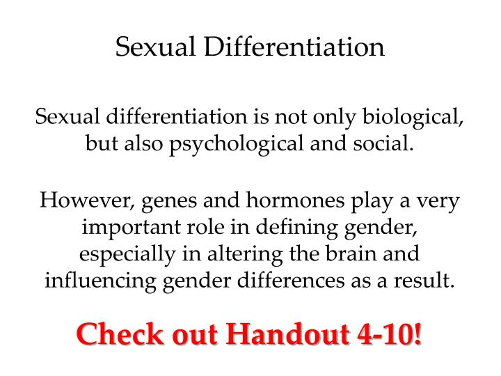 Sexual Differentiation