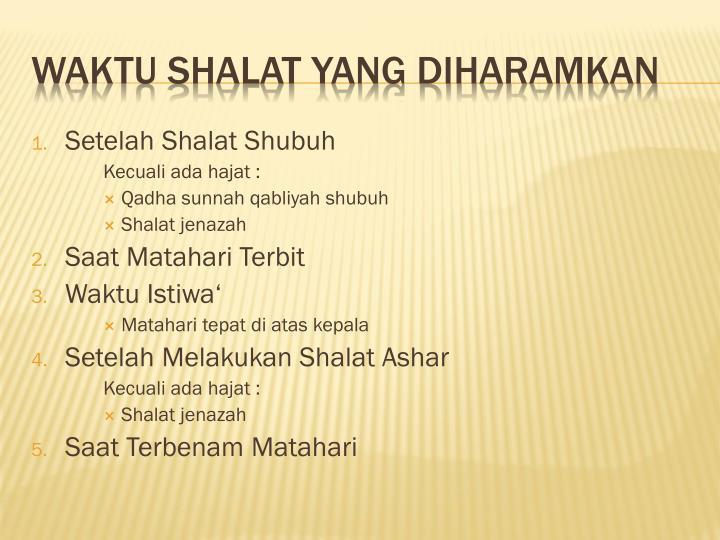 Setelah Shalat Shubuh
