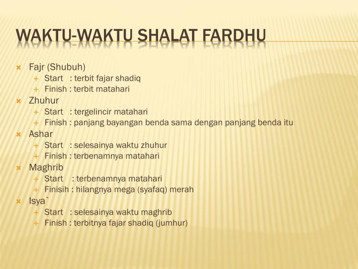 Fajr (Shubuh)