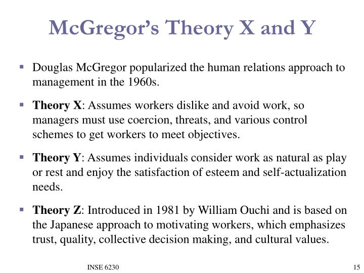 McGregor's Theory X and Y
