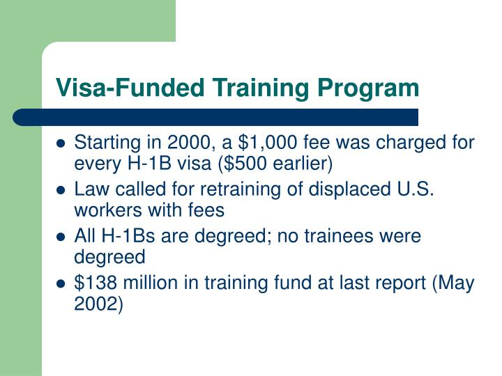 Visa-Funded Training Program