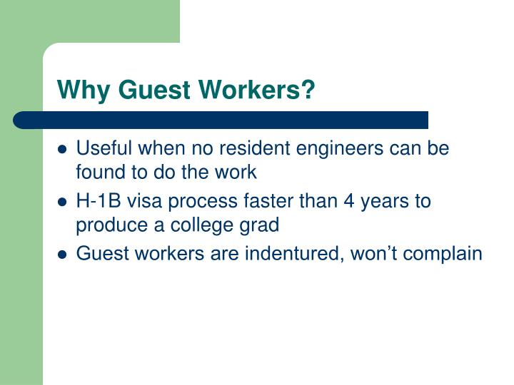 Why guest workers