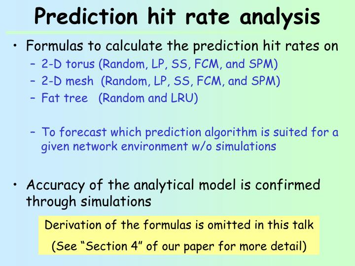 Prediction hit rate analysis