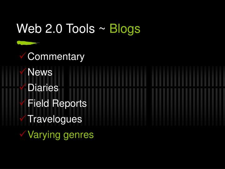 Web 2.0 Tools ~