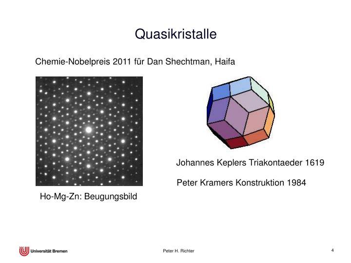 Chemie-Nobelpreis 2011 für Dan Shechtman, Haifa