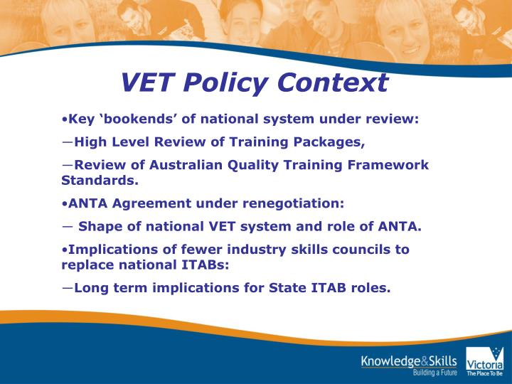 VET Policy Context