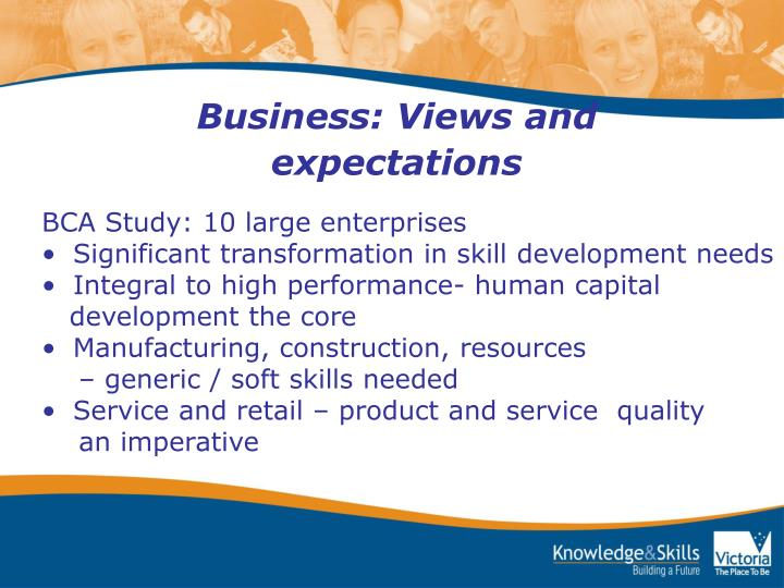 Business: Views and expectations