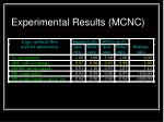 experimental results mcnc