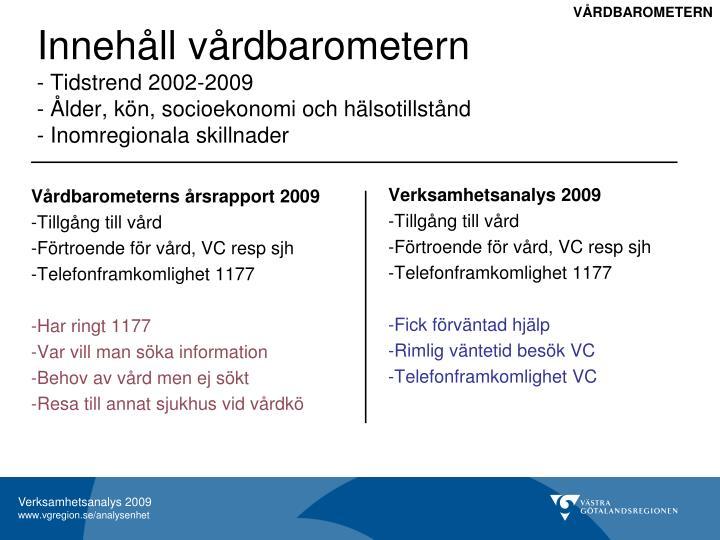 Verksamhetsanalys 2009