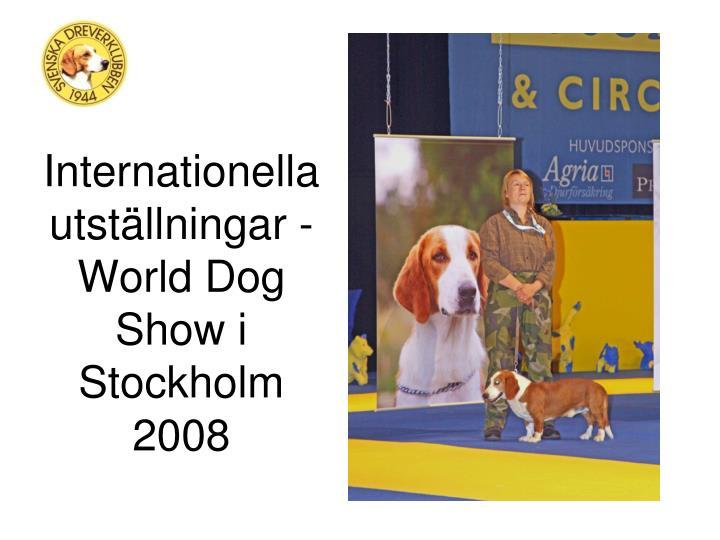 Internationella utställningar - World Dog Show i Stockholm 2008