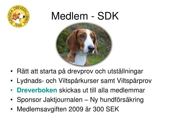 Medlem - SDK